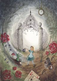 Ansichtkaart Alice in Wonderland