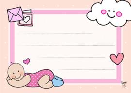 Adressticker Baby Meisje