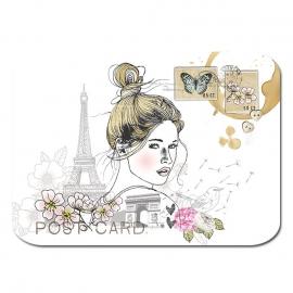 Ansichtkaart Paris Girl 4-set