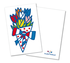 Cadeaulabels 2-set Tulpen Holland