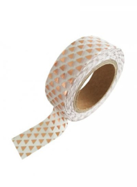 Washi Tape Driehoek Wit/Goud