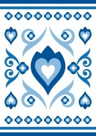 Ansichtkaart Delftsblauw Tulp