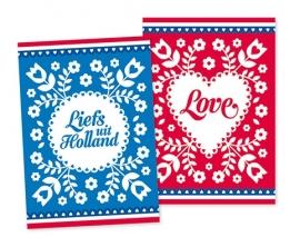 Ansichtkaarten Liefs met Love 2-set