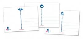 Ansichtkaarten Delftsblauw 3-set