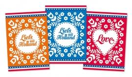 Ansichtkaarten Liefs uit Holland 3-set