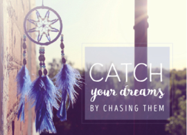 Ansichtkaart Quotes Dream Catcher