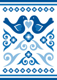 Ansichtkaart Delftsblauw B 15-set