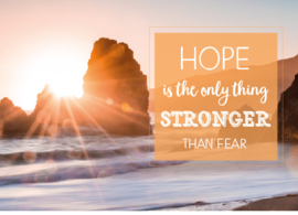 Ansichtkaart Quotes Hope