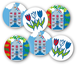 Sluitstickers Holland XL 30-set