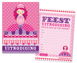 Uitnodiging Prinses 8-set