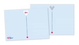 Anisichtkaarten Hart 2-set