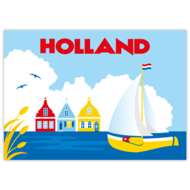 Ansichtkaart Holland Boot