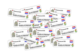 Stickers Postcrossing ID 24-set