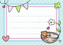 Adressticker Baby Pastel