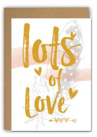 Wenskaart Gold Love 4-set