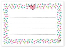 Adressticker Confetti