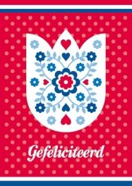 Ansichtkaart Holland Tulp2