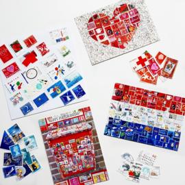 Kaarten met unieke postzegels