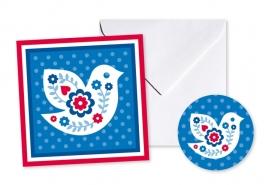 Cadeaukaart Sticker Vogel