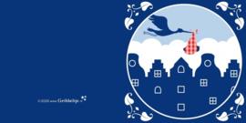 Wenskaart Grachtenpand NL