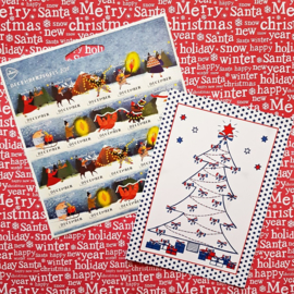 Kerstkaarten en postzegels