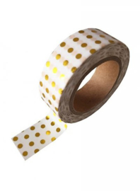 Washi Tape Stip Wit/Goud