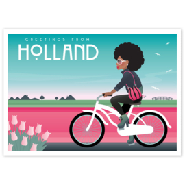 Ansichtkaart Holland Retro