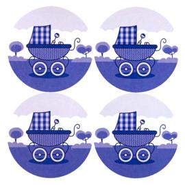 Sluitstickers Kinderwagen 4-set