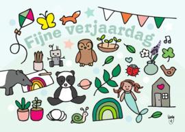 Ansichtkaart Fijne Verjaardag