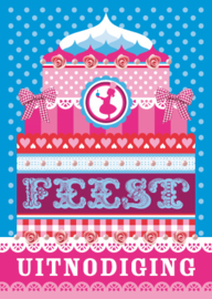 Uitnodiging Feest Kleur 30-set
