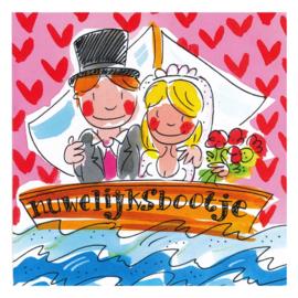Blond Amsterdam Huwelijksbootje