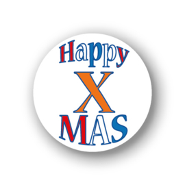 Sluitsticker Happy X-Mas mini 10-set