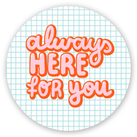 Sluitstickers Always for you 5-set