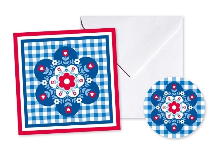 Cadeaukaart Sticker Bloem
