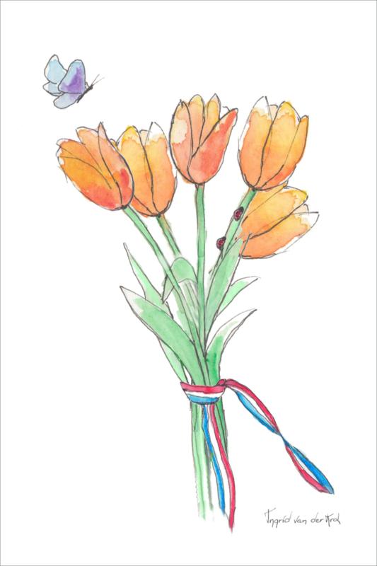Ansichtkaart Tulpen