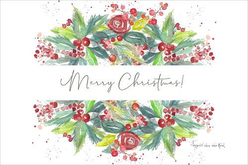 Kerstkaart Fijne Feestdagen