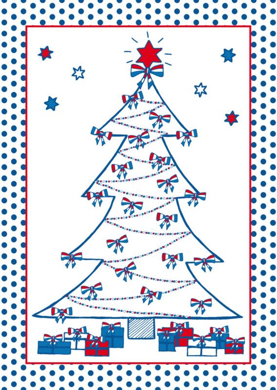 Kerstkaart Holland Kerstboom
