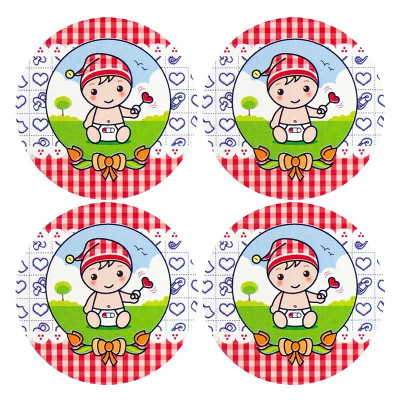 Sluitstickers Baby NL 4-set