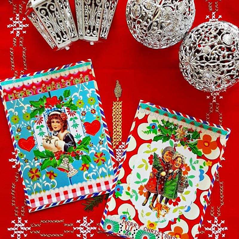Kerst in vintage en retro stijl
