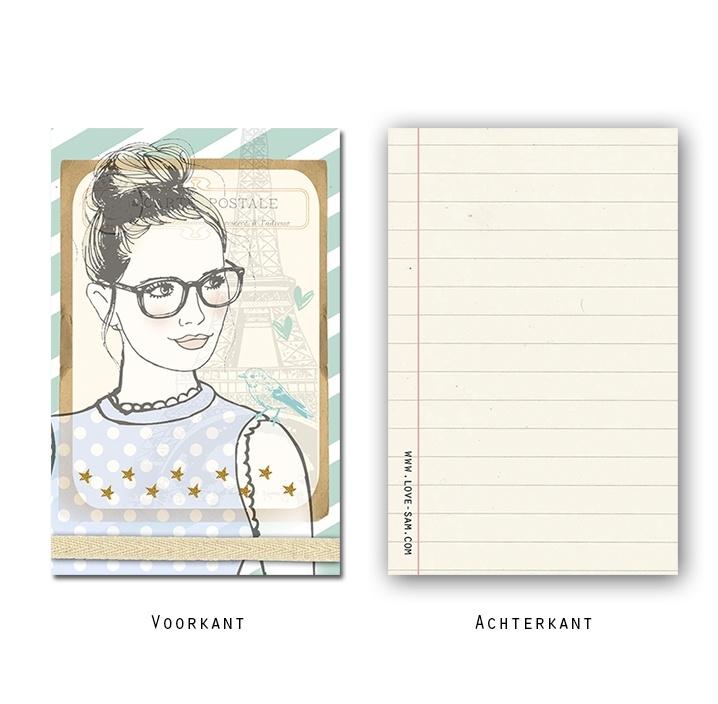 Minikaartje Vintage Girl