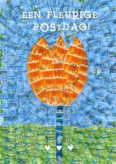 Ansichtkaart Tulp Postdag