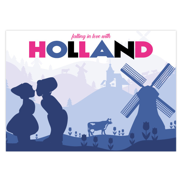 Ansichtkaart  Holland Love