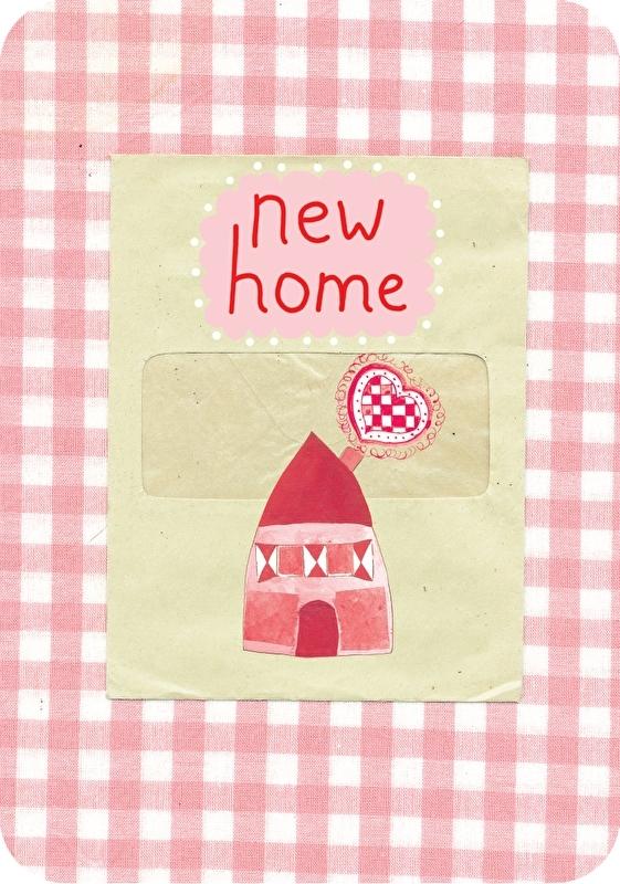Ansichtkaart Popje - New Home