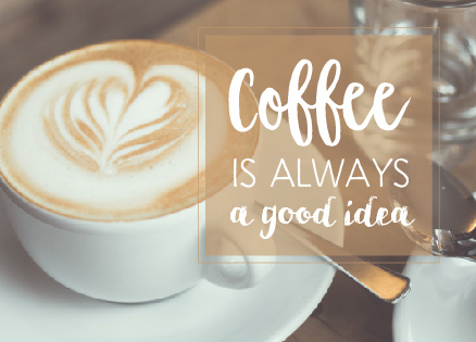 Ansichtkaart Quotes Coffee