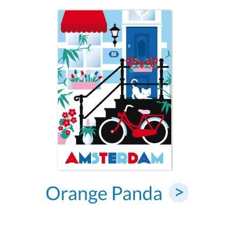 Ansichtkaarten | Orange Panda