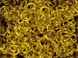 aluminium (goud)geel 1.2x5.0mm. (gezaagd) NK