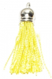 BM115/light yellow  Terylene pendant kwastje 45x10mm.