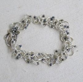 Chainmail creaties in sterling silver plated: ingezonden door Riet