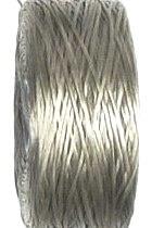 OND664 S-lon rijgdraad 0.09mm.  Charcoal Gray  70mtr.