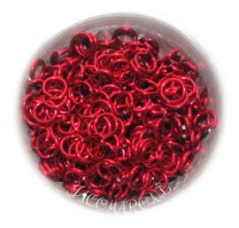 aluminium rood 1.6x6.6mm. (gezaagd)